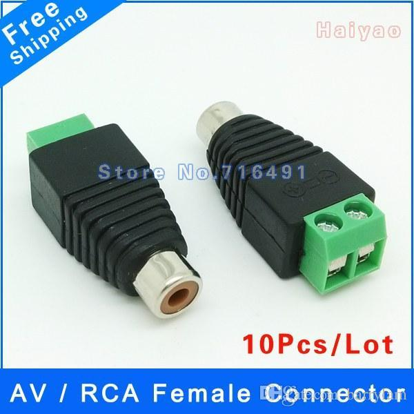 BNC Male To RCA Female Connector Adapter for CCTV Camera Coax Cable Plug LOT