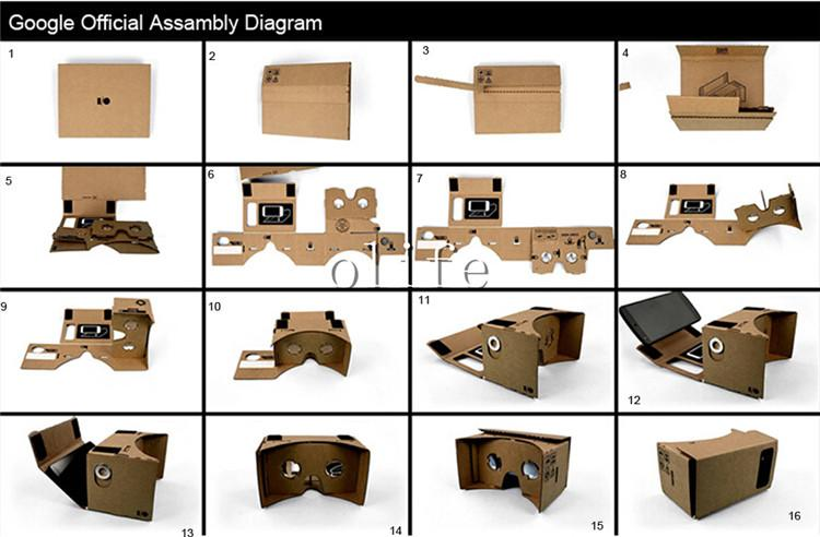 New Diy Google Cardboard Vr Phone Virtual Reality 3d Viewing Glasses For Iphone 6 6s Plus Samsung S6 Edge S5 Nexus 6 Android 3d Glasses As Sunglasses