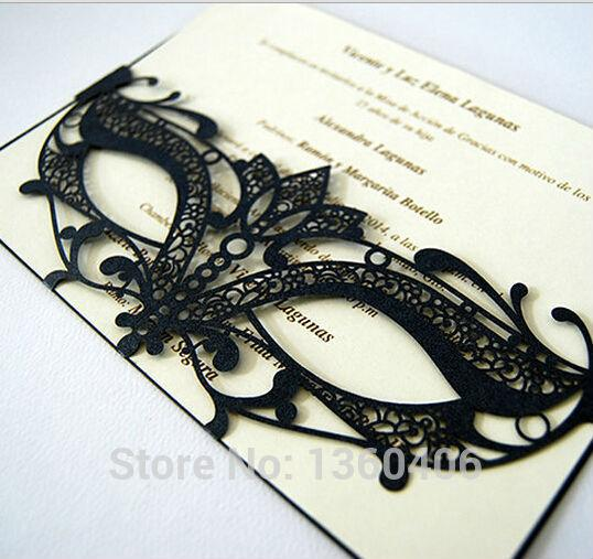 factory Direct Sale 2017 Latest Party Invitation Cards Black And