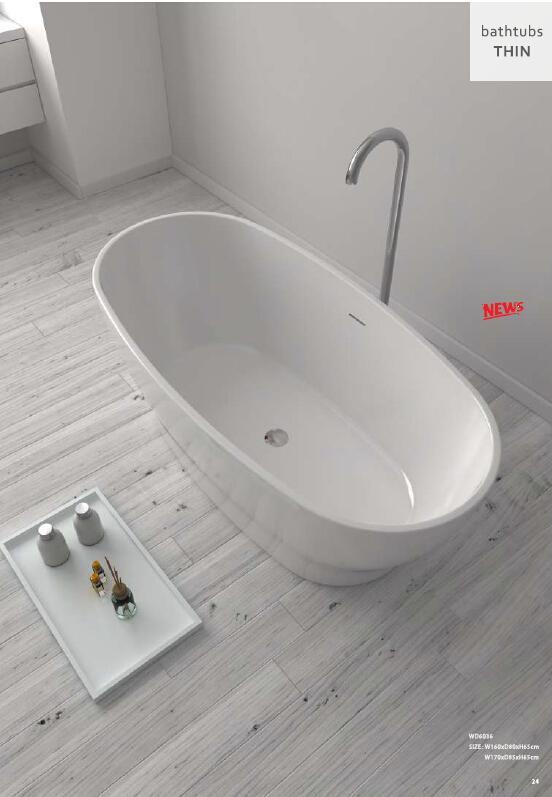 1700X850X580mm Сертификат CUPC Овальная отдельно стоящая акриловая ванна из акриловой + ABS композитной доски ультратонкая ванна для замачивания WD005