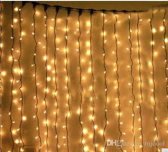 Blinking1000 LED照明10 m x 3 m LEDクリスマス文字列妖精の屋外の結婚式のカーテンの背景パーティーのクリスマスライト110 V 220 V