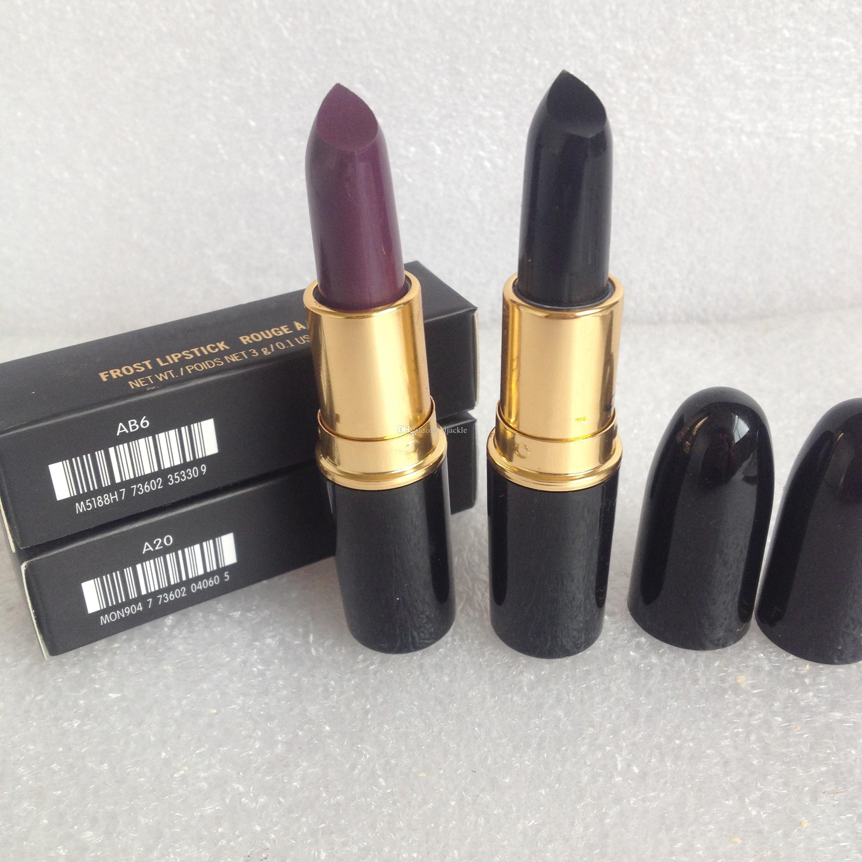 2015 brand beauty lipsticks BLACK CYBER DARK PURPLE lipstick professional makeup
