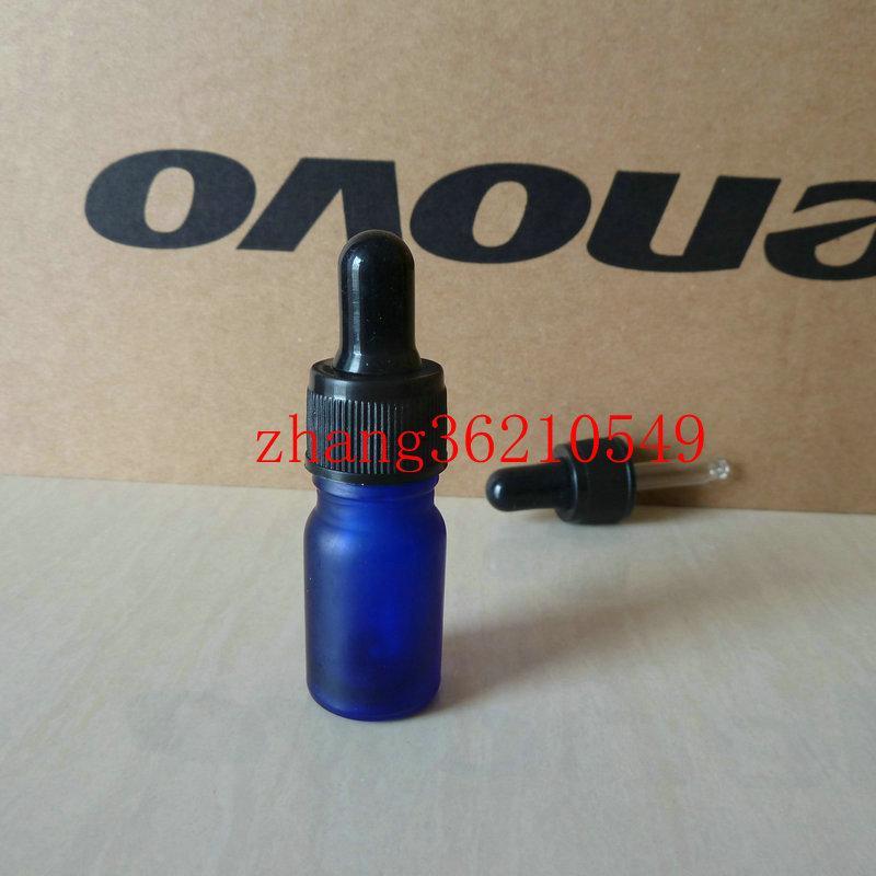 푸른 젖빛 유리 에센셜 오일 병 5ml 검은 플라스틱 정상 dropper cap.Essential 오일 컨테이너