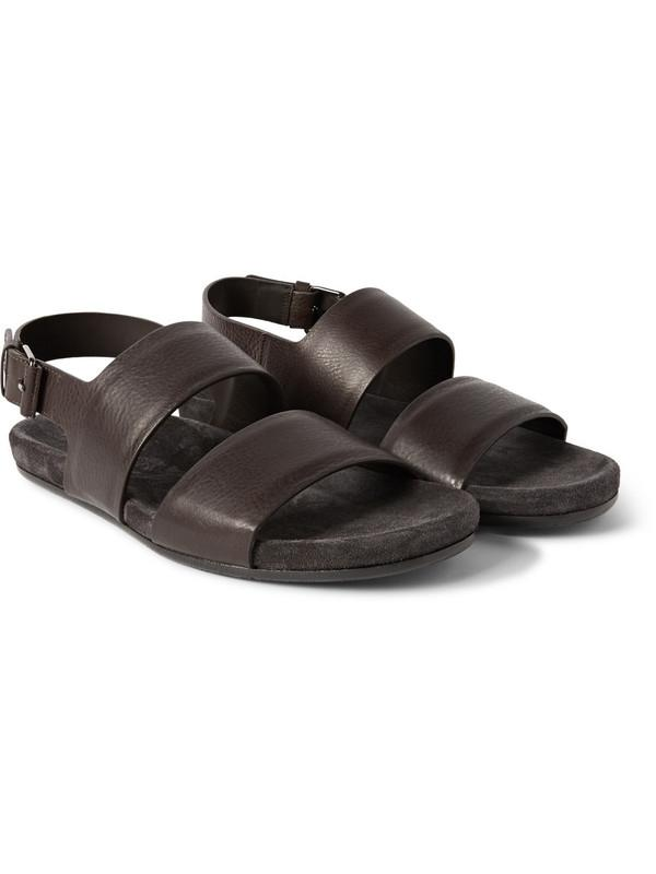 New Arrival Genuine Leather Kroean Style Mens Sandals Flat Male Shoes Soft Dress Summer Sandals Buckle Black Brown Free Shipping Man Shoes