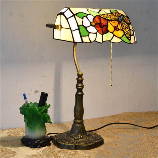 2019 European Style Garden Arts Butterfly Flower Table Lamp Vintage Table  Lamp Living Room Bars Tiffany Light Bedroom Study Room Glass Desk Lamp From  ...