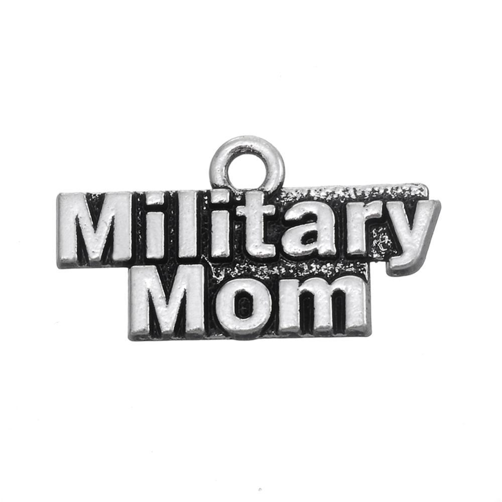 무료 배송 새로운 패션 diy 20pcs 금속 알파벳 군사 군사 매력 보석에 대 한 여자 보석에 대 한 쉬운 목걸이 또는 팔찌에 맞게