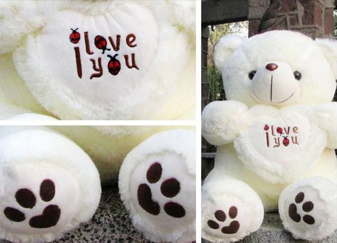 50cm Giant Big Plush Teddy Bear Valentines Day I Love You Big Teddy Bears  For Sale