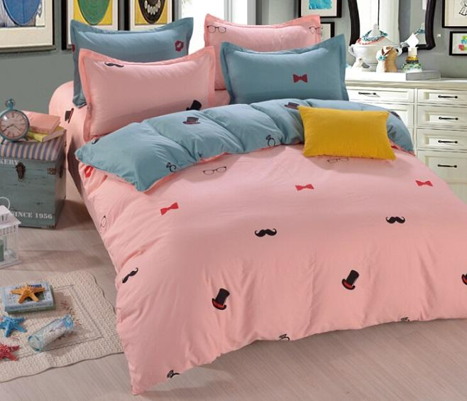 new child 3/4 pcs cotton Individuality hat Printing bedding set Bed bed Sheet Quilt/Duvet Covers PillowCase Bedclothes Bed Linen 3 size