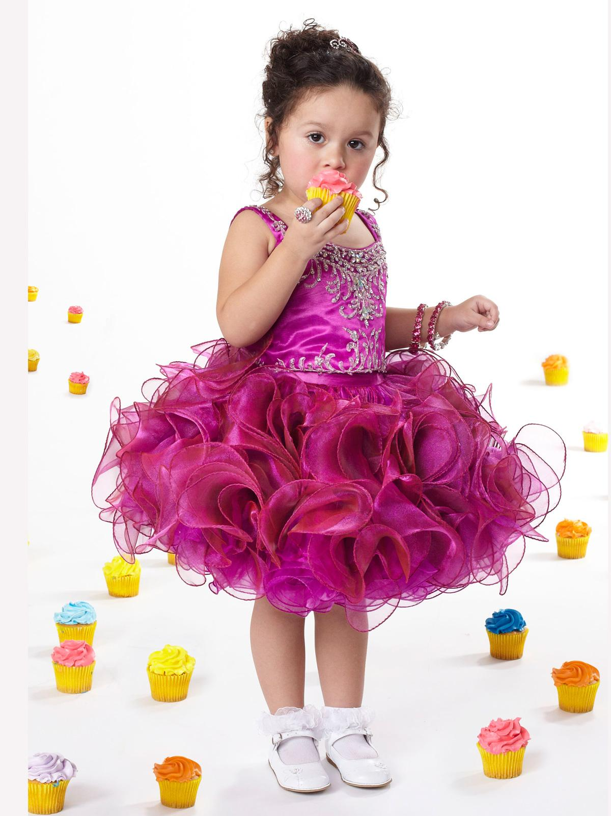 2015 Hand Made Flower Girls Dress For Party And Wedding Kids Frock ...
