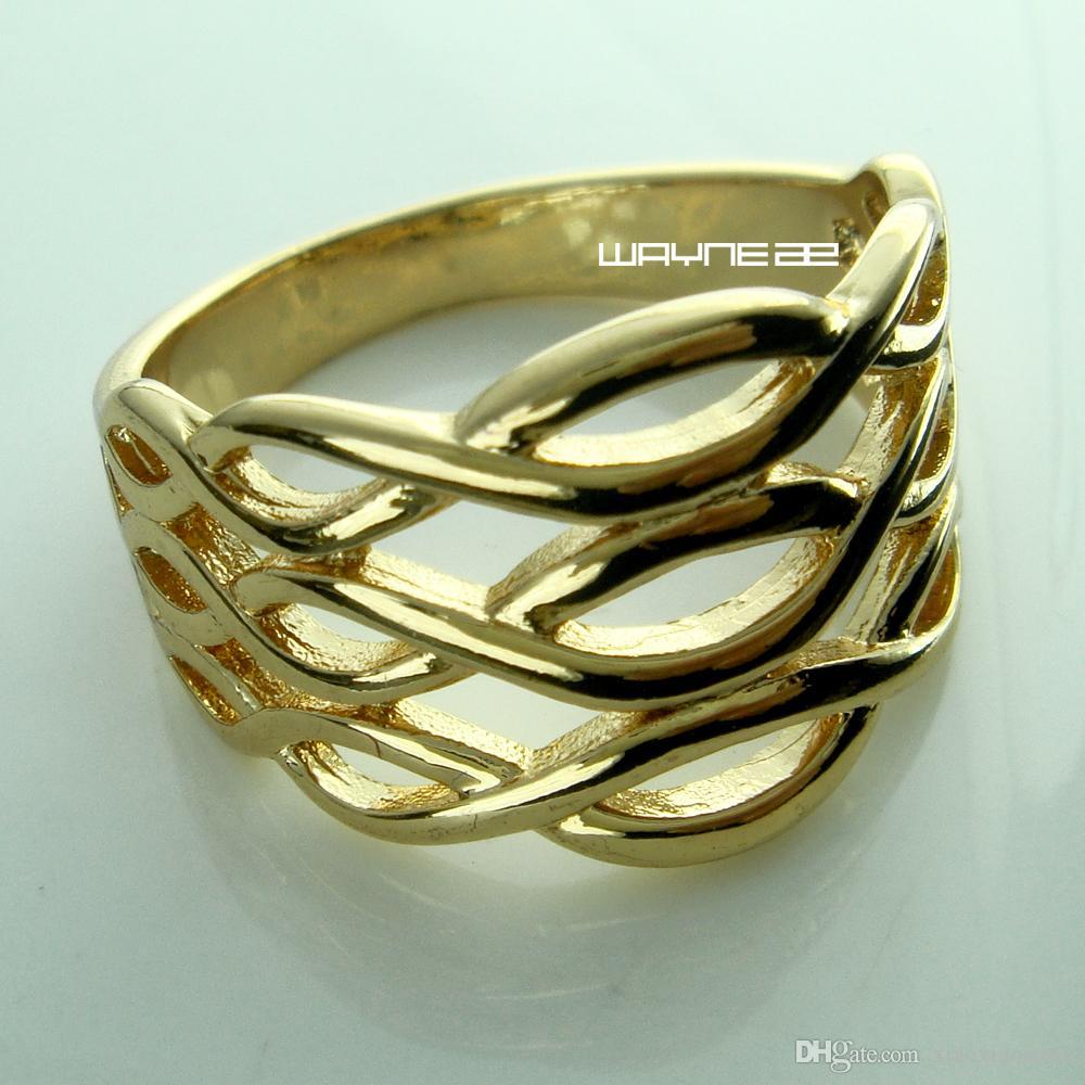 Женское обручальное кольцо 18 карат с золотом Sz8 R218
