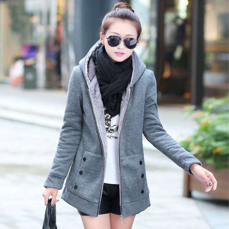 Nieuwe vrouwen winter overjassen solide imitatie wollen single breasted lange bovenkleding trenchcoat casacos met dop