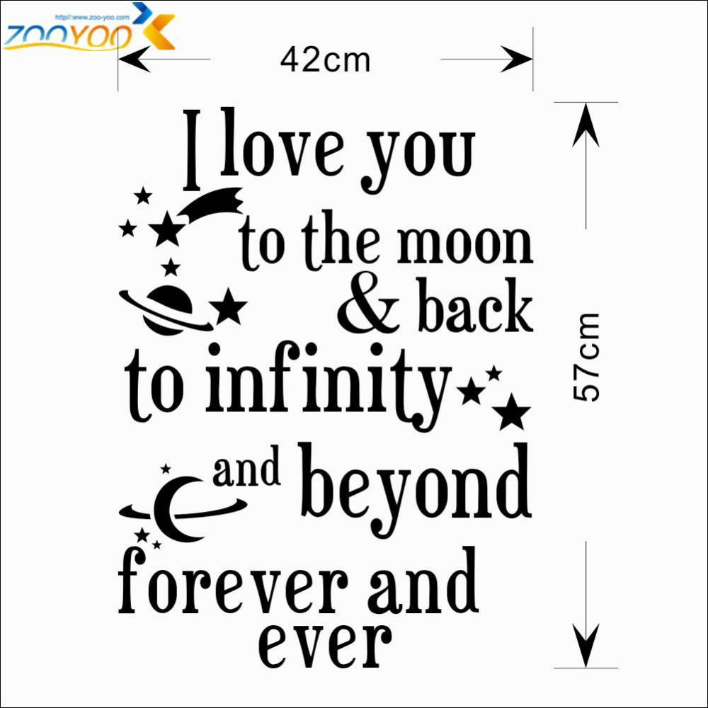Quote I Love You To The Moon And Back I Love You To The Moon And Back Quote Wall Stickers Home