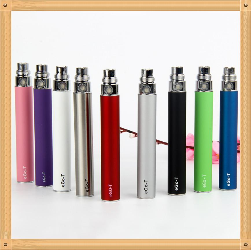 Factory price E Cigarette Ego-T Battery ego T 650mah 900mah 1100mah 510 Thread match CE4 CE5 MT3 vivi Nova Atomizer VS EGO 2 Vision Spinner