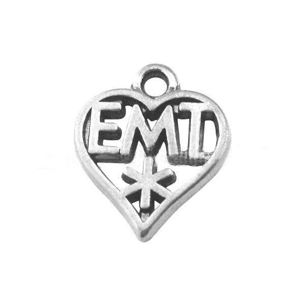 أزياء شكل قلب EMT سحر فني الطوارئ الطبية تسجيل السحر سحر رمز الطبية 50pcs AAC630