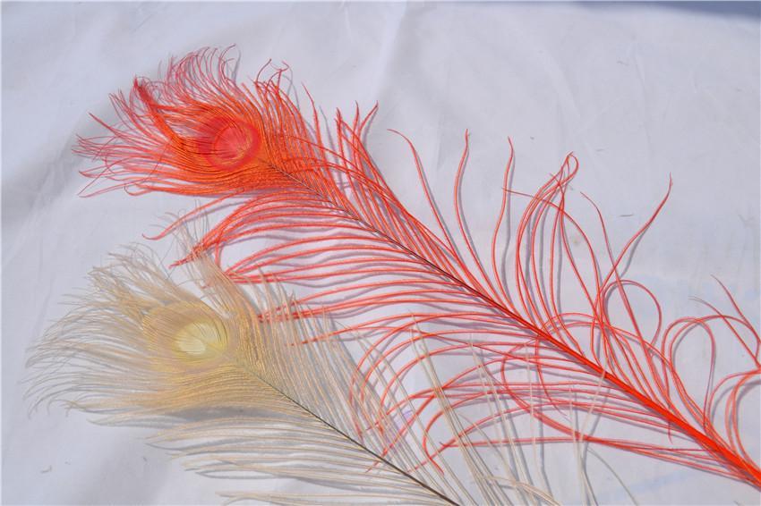 Бесплатная доставка 300 шт. / лот 30-35 дюймов оранжевый павлинье перо Павлиний глаз перо для костюмы декор ремесла событие питания декор