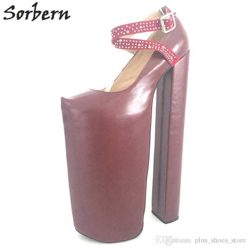 scarpe di separazione fb1ac 54ca1 Acquista Sorbern 35cm Scarpe Col Tacco Alto Donna Scarpe Col Tacco Alto  Donna Scarpe Con Tacco Grosso Scarpe Col Tacco Sexy Scarpe Da Passeggio  Plus ...
