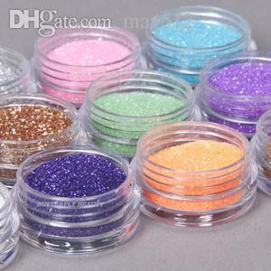 Trasporto libero all'ingrosso 12 colori polvere acrilica professionale di arte del chiodo della decorazione di colore B10