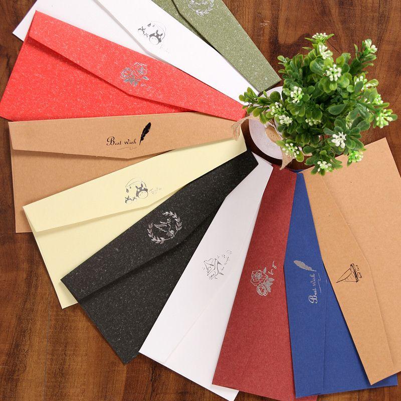 6 Tasarımlar Lot başına Karışık Davetiye için Zarflar Kart, Tebrik Kartı veya İş Davetiye Zarfı, 4.3 * 8.6 inç