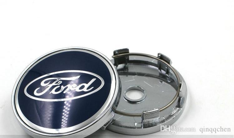 포드 휠 커버에 대 한 4pcs / lot 자동차 휠 센터 허브 캡 60mm ABS 자동 스타일 스티커 배지 센터 먼지 방지 화이트 / 블루 액세서리 커버