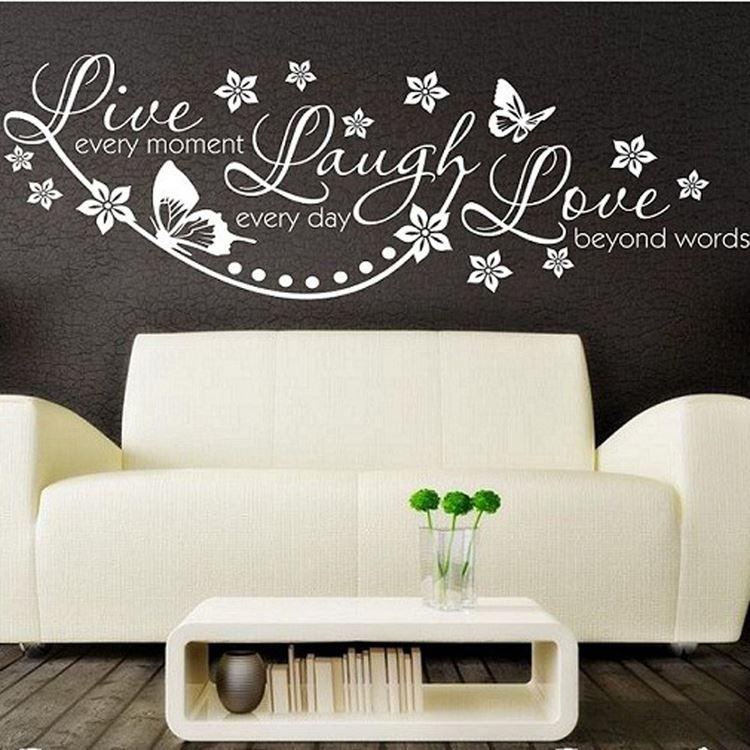 Live Love Laugh Wall Quote Sticker Art Decor Removable Pvc Home Decoration Butterfly Pattern Black Brown White Hg Ws 1535 Kids Wall Decal Kids Wall Decals From Wengminyi 15 19 Dhgate Com