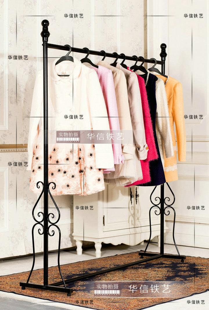 Kleiderständer Schmiedeeisen 2018 wrought iron clothes rack display shelf ground hangers indoor