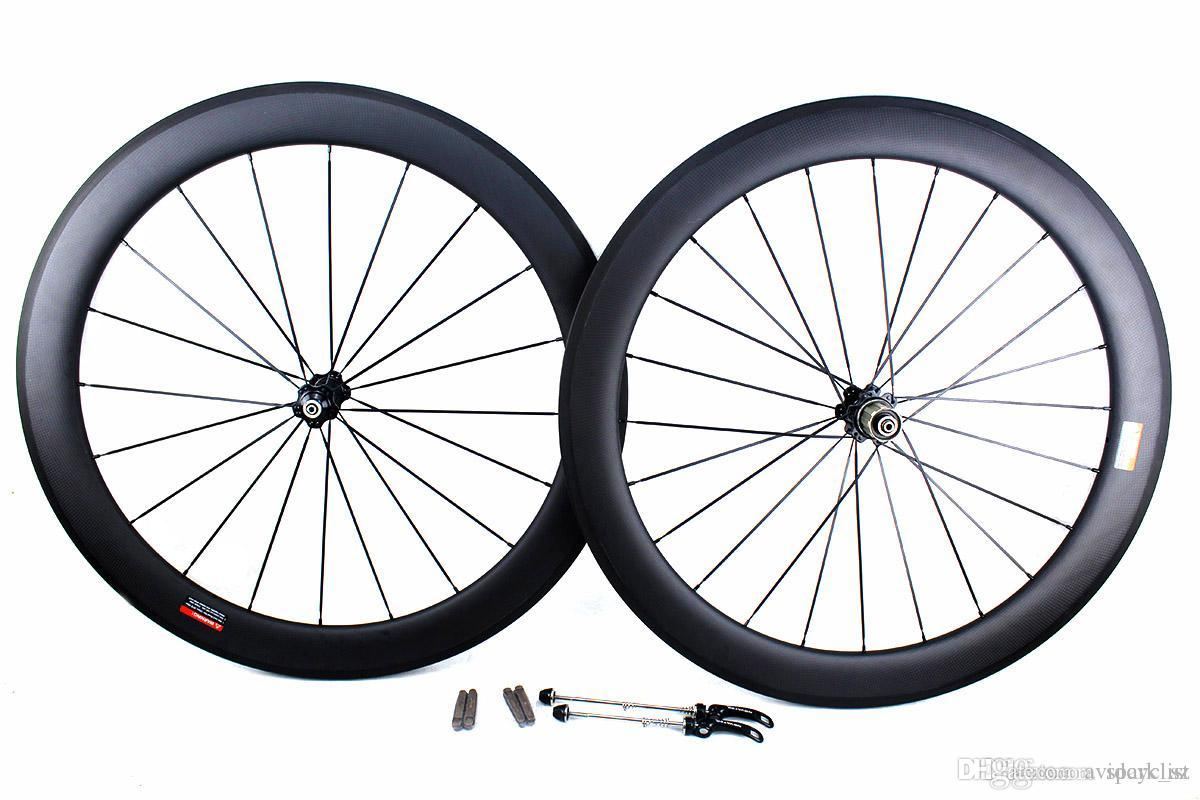 carbon bike wheels 60mm basalt brake surface clincher tubular road bicycle wheelset 700C width 25mm Powerway or Novatec hub available
