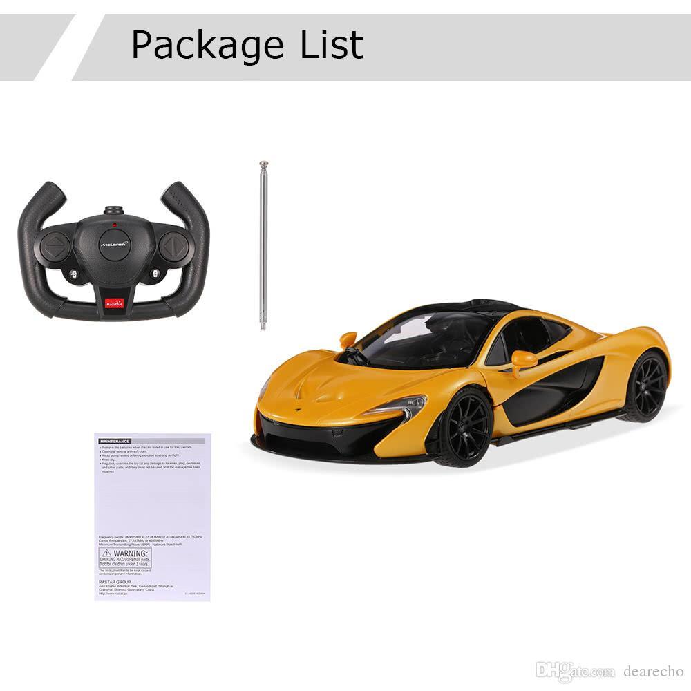 ... Original RASTAR 75110 27MHz 1/14 McLaren P1 RC Super Sports Car  Simulation Model With ...