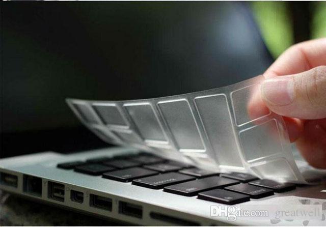 TPU Crystal Keyboard Skin Protector Case Cover Ultrathin Rensa transparenta för MacBook Air Pro Retina 11 13/15 tums EU US