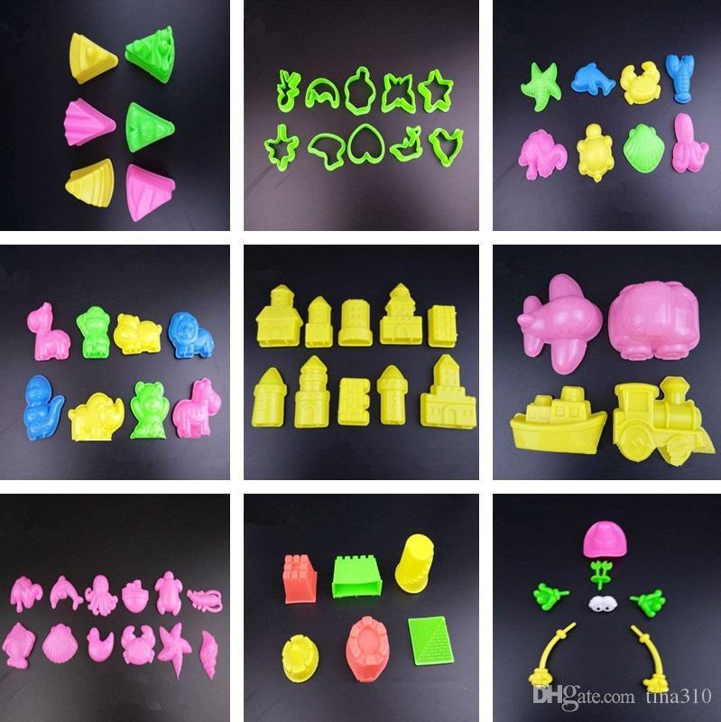 Strand Spielzeug Schloss Gebäude Form Mars Sand Polymer Clay Candy Fimo Skulptur Super Licht Ton Plastilin Form Spiel Werkzeug IC922