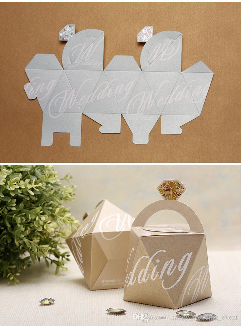 Wedding Favor Box Creative European Style Big Diamond, 2 colors to ...