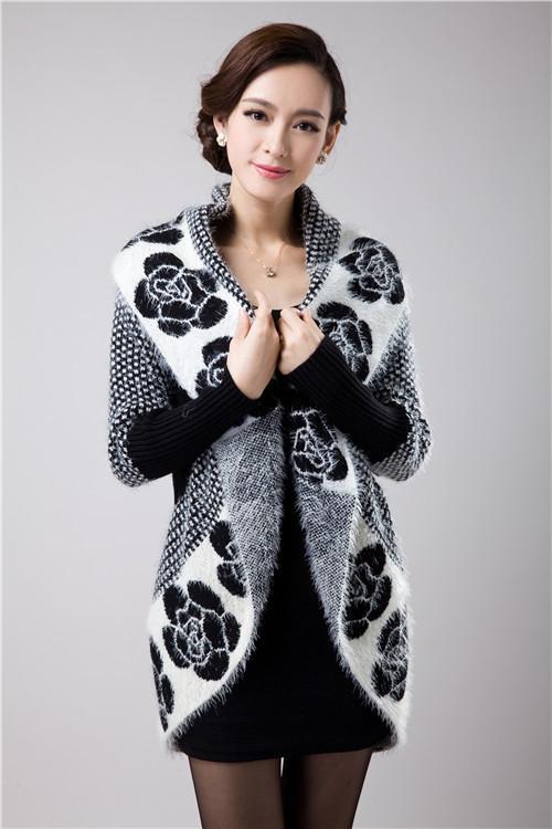 بالجملة، 2017 الخريف المرأة الكورية الأزياء الزهور الموهير متماسكة شال سترة سترة سترة المتوسطة البلوزات الطويلة 6