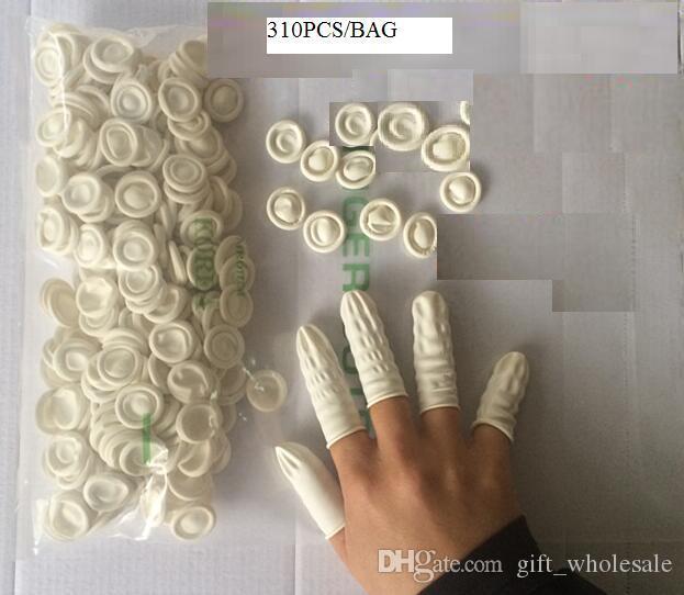310pcs/bag Brand New Protective Latex Finger Cots Glove Small Gloves Nail Art Salon Tool Free Shipping Wholesale