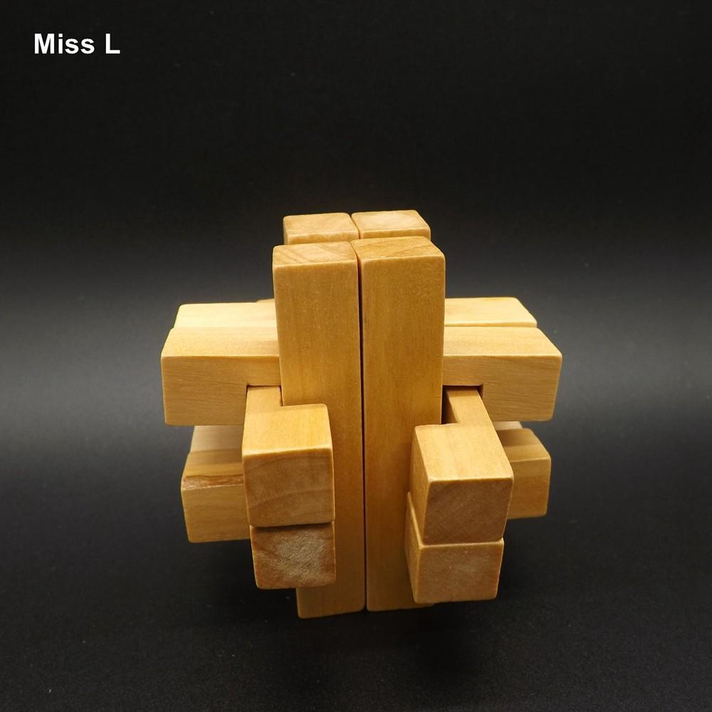 الكلاسيكية التعليم تطوير العقلية الخشب لغز كونغ مينغ قفل لعبة للأطفال تربية الدعامة التدريس لعبة هدية