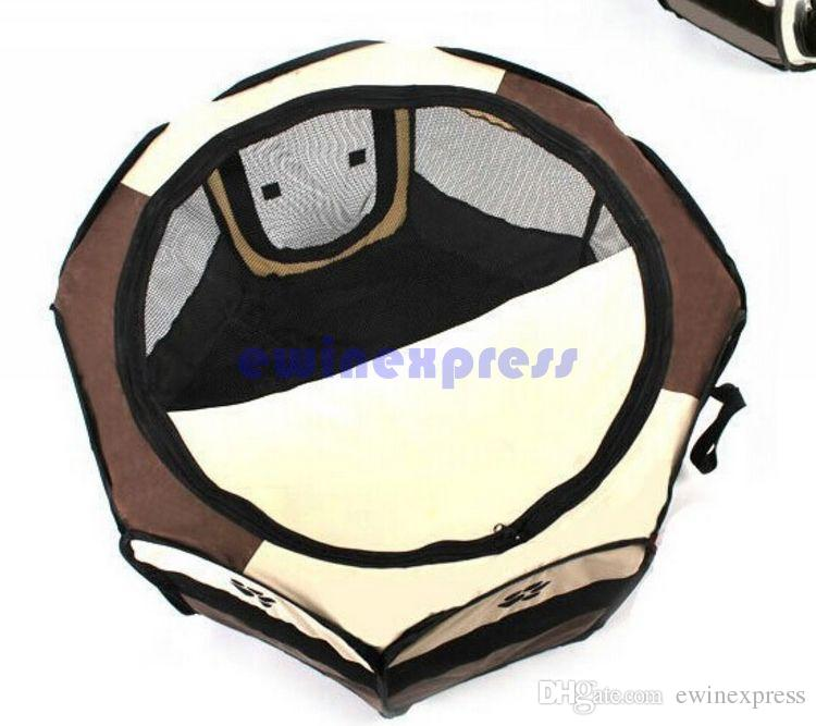 Travel outdoor foldable Dog cage House Pet Bed Kennel Pet Tent Pens Cage Pet Products Dog Supplies 72x30x45cm