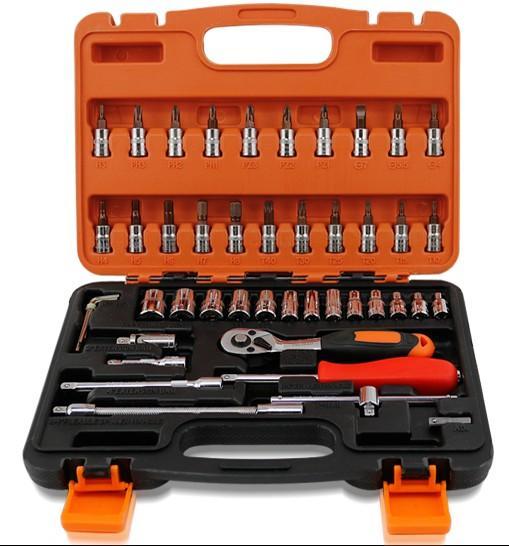 Heißer Verkaufs-Worth Spanner Socket Set Auto-Reparatur-Werkzeug-Ratsche Set Handwerkzeuge Kombination Haushalt Tool Kit 271 * 193 * 56MM T0 zu kaufen