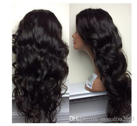 Najwyższa jakość hurtownie tanie cena 100% nieprzetworzona brazylijska ludzkie włosy dziewiczy włosy pełna koronka peruka