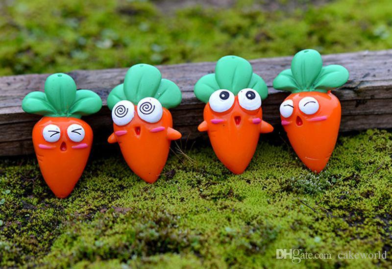 8pcs carota bambole figurine in miniatura terrario bonsai mestiere della resina fairy garden gnome Micro paesaggio decoracion jardin