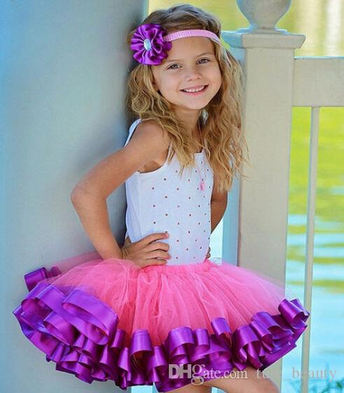 25style new arrival baby girl ribbon tutu skirt chiffon casual fluffy ball gown petticoat fashion toddler girl mini dance skirt tutu 10PCS/