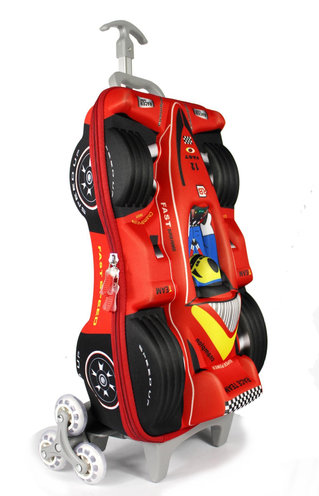 Weekend Suitcase Car EVA 3D Children Trolley School Bag For Boy