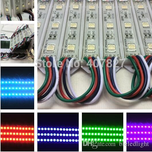 チャネル文字またはLEDサインのためのLED RGB色変更モジュールLED RGB SMD 5050防水100ピース/ロット送料無料