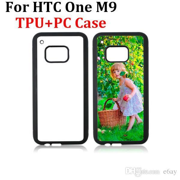 Чехлы для HTC One M9 M8 TPU + PC DIY Сублимационный термопресс сотовый телефон с металлическими алюминиевыми пластинами для HTC M8 M9