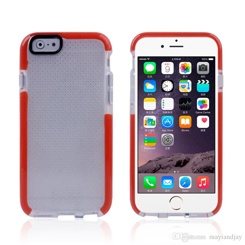 pretty nice d3451 61c01 Evo Mesh Tech21 Cases For IPhone 6/6plus/6S/6S Plus Samsung Galaxy S6/S6  Edge D30 Material TPU Soft Back Cover Case Cell Phone Hard Cases Create A  ...