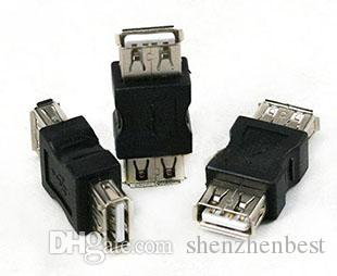 Free Shipping Good quality USB A Female to A Female Gender Changer USB 2.0 Adapter 100pcs/lot