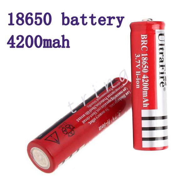 18650 3.7v 4200mAh UltraFire cellule de batterie au lithium-ion rechargeable pour la cigarette électronique LED vélo lampe de poche