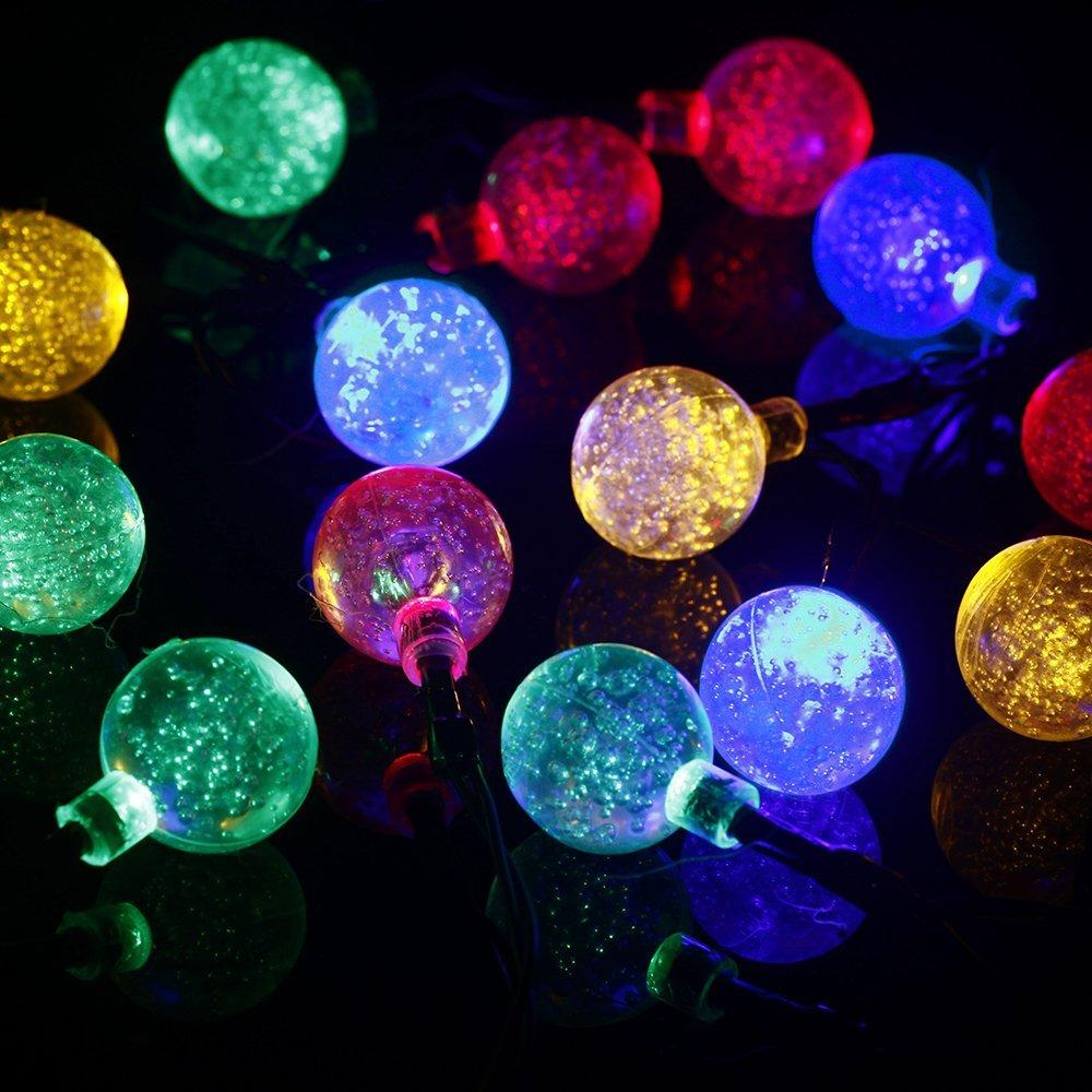 20 led string fairy lights solar powered for outdoor garden patio 20 led string fairy lights solar powered for outdoor garden patio lawn christmas party fence window multi color mozeypictures Choice Image