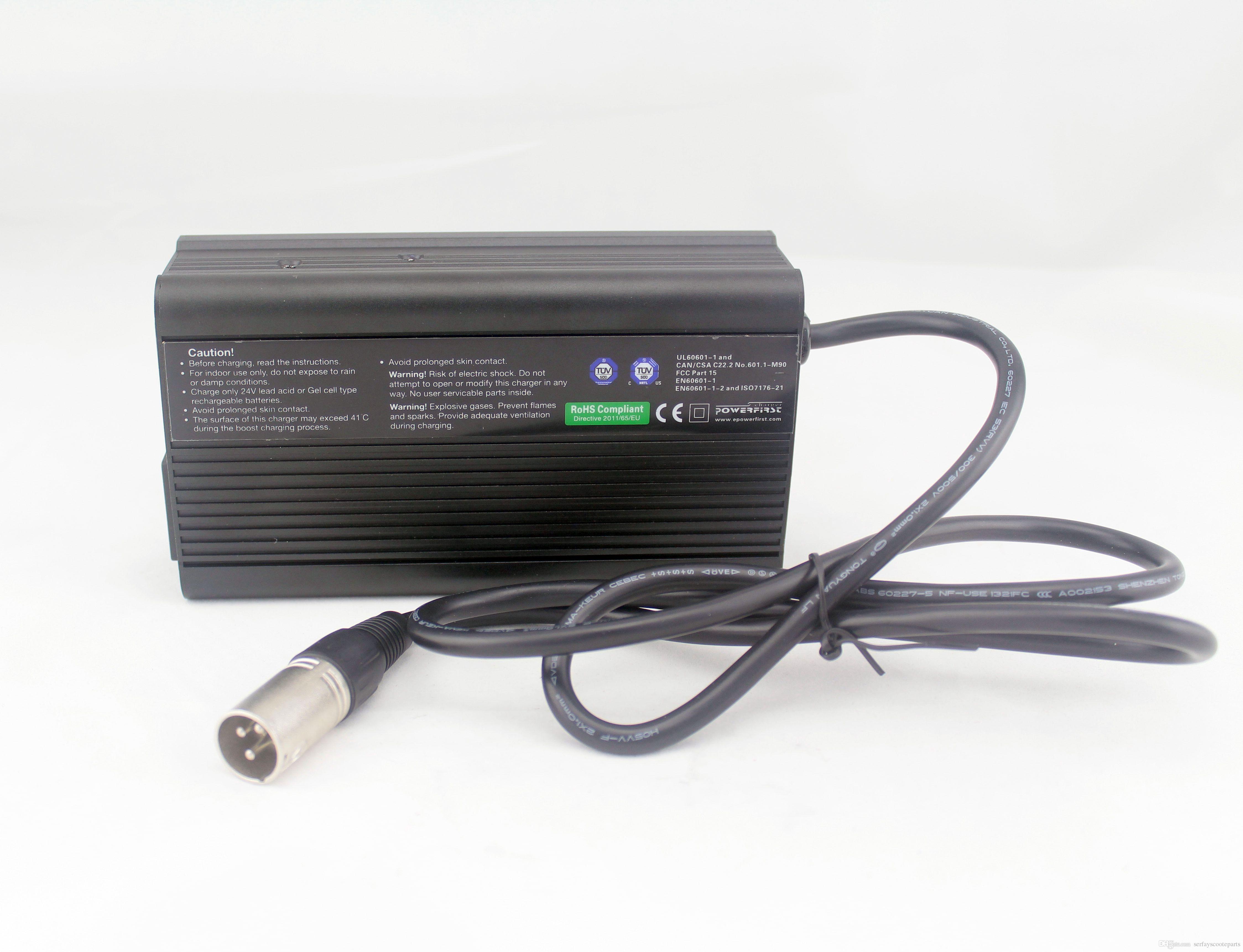Заряжатель батареи 24V 5A свинцовокислотный AGM или геля с цепью PFC (коррекции фактора силы) для кресло-коляск силы самоката удобоподвижности