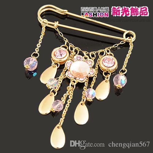 more color crystal sunflower tassels men and women chest brooch (64mm*78mm) ming )