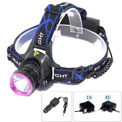 Topkwaliteit 2000 Lumen Headlamp Cree XM-L T6 LED Koplamp voor Hoofdlamp Torch LED Zaklamp Hoofdlicht door 2PCS 18650 Batterij (290)