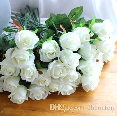 Artificial Rose Silk Craft Flowers Real Touch Flowers For Wedding Christmas Room Decoration 7 Color Cheap Sale 2015 new style