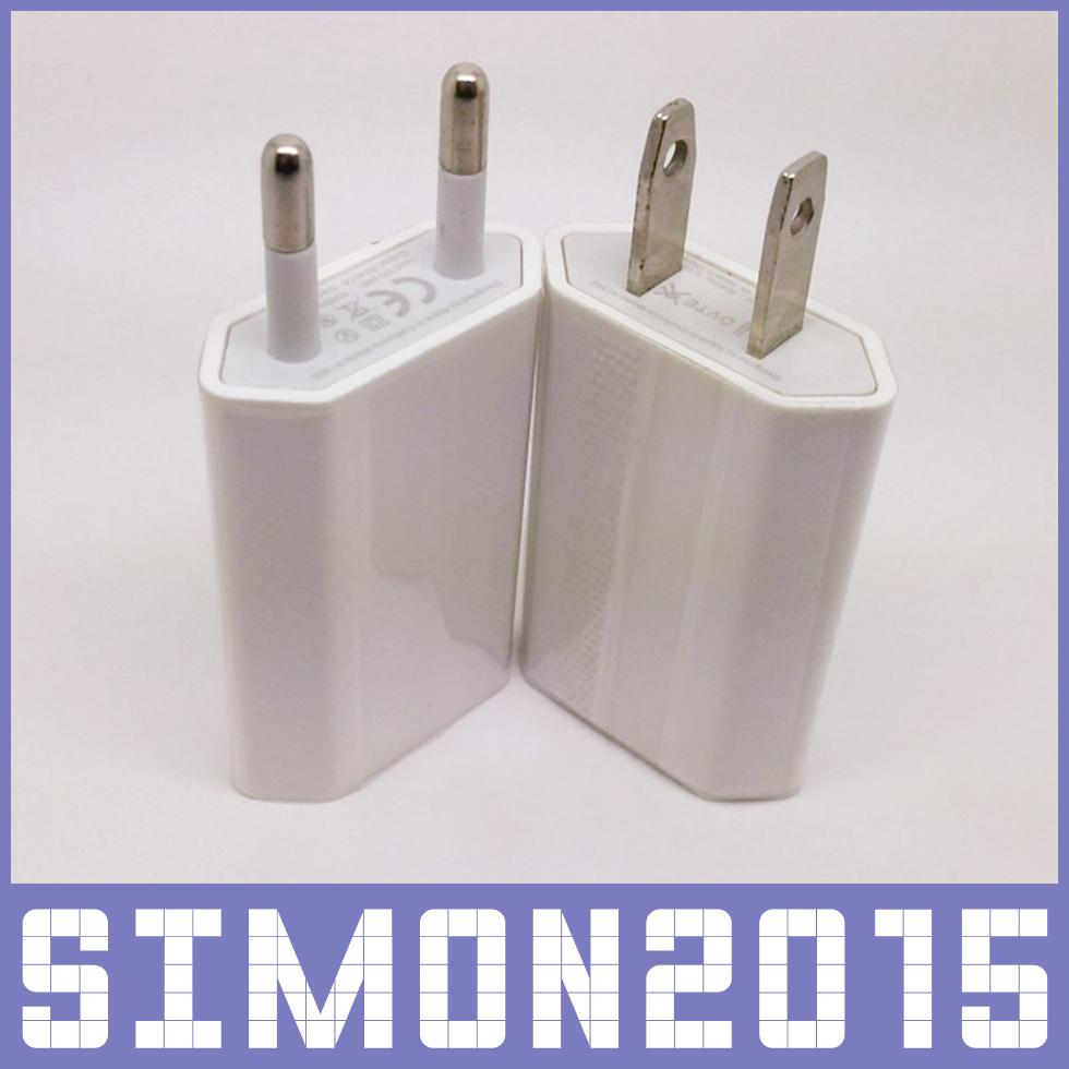 AC POWER 5V 1A US Plug EU USB Ładowarka ścienna Adapter podróży do iPhone 4 4S 5 5S 5C Samsung Galaxy S5 S4 Note3 HTC SONY wysokiej jakości 200 sztuk